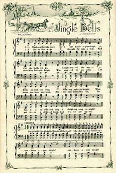 Vintage Christmas Sheet Music images - Christmas Crafts Print this out and put on wood Sheet Music Crafts, Sheet Music Art, Music Paper, Vintage Sheet Music, Vintage Sheets, Music Sheets, Art Music, Indie Music, Soul Music