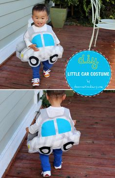 Isn't this car-costume super cute? Time to prepare for Halloween!