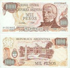 Argentina Pesos banknotes for sale. Dealer of quality collectible world banknotes, fun notes and banknote accessories serving collectors around the world. Over 5000 world banknotes for sale listed with scans and images online. Money Talks, Retro, South America, Samurai, Vintage World Maps, Nostalgia, Childhood, Fun, Banknote