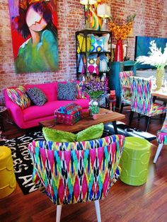 27 Awesome Colorful Apartment Decor Ideas And Remodel For Summer Project. If you are looking for Colorful Apartment Decor Ideas And Remodel For Summer Project, You come to the right place. Living Room Decor Colors, Colourful Living Room, Room Colors, House Colors, Living Room Designs, Decor Room, Colorful Decor, Colorful Interiors, Colorful Pillows