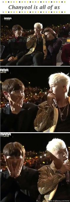 I would've reacted the same way  #Chanyeol #Seungri #MAMA2015