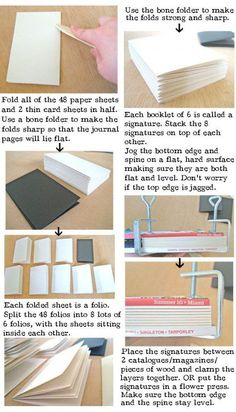 HOW TO make a Leather Journal - BOOK BINDING tutorial-could take the accordion idea and then glue letters in Handmade Journals, Handmade Books, Handmade Notebook, Buch Design, Bookbinding Tutorial, Diy Notebook, Notebook Covers, Journal Covers, Leather Books