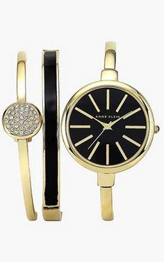 $165 ~ Boxed Bracelet & Bangle Watch Set by Ann Klein