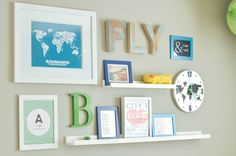 A travel-themed toddler or big boy room gallery wall on a budget. Details on livethefancylife.com