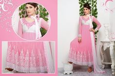 Flamboyant Rose Pink Long Anarkali Suit #bride #stylish #bollywood #beauty #net #georgette #embroidery  #wedding #gown #partywear #Anarkali #Indian #Fashion #Salwar #Kameez #party #Dresses  #women #Latest #Outfits  #Desiwedding #designer   #beautiful #shaadi #suit #Pakistani #Asian #Clothing