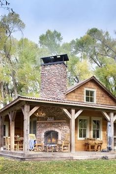 Outside corner fireplace. LOVE.: