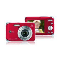 """GENERAL ELECTRIC J1250 12.2 MP 2.7"""" LCD Ekran 5X Optik Zoom Fotoğraf Makinesi Kırmızı :: albakavm.com"""