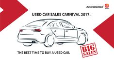 Used cars and bikes at unbeatable prices at Auto Selection Used Car Sales Carnival this weekend! https://cstu.io/fad6f5