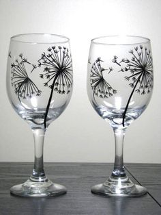 REALLY WANT!!!!! Dandelion wine glasses