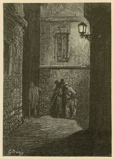 Whitechapel (engraving) from an illustration by Gustave Dore. Bridgeman Education
