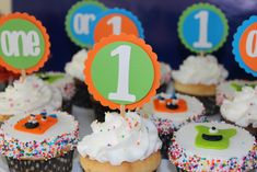 Monster First Birthday Party Cupcakes - Project Nursery
