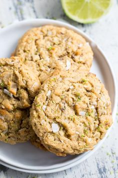 Chewy Lime Coconut Cookies {Paleo, Vegan} | The Paleo Running Momma