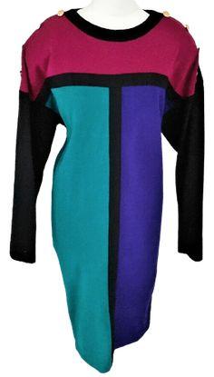 Bold Fashion, 80s Fashion, Zig Zag Pattern, Mohair Sweater, Jumper Dress, Color Block Sweater, Batwing Sleeve, Windbreaker Jacket, Adele