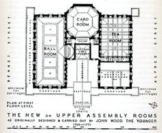 If you're reading Northanger Abbey atm (or have ever read it for that matter...) then this floor plan of the Assembly Rooms as they would have been when Jane Austen knew them might help you visualise some of the scenes. @JaneAustenLIVES @NorthangerJane @RegencyHistory @visitbath