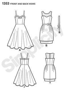 Simplicity 1353 Creative Group - Misses' Dresses Leanne Marshall Collection