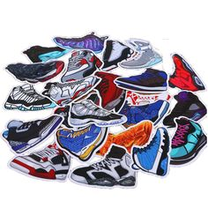 100pcs/pack Mixed Cartoon SNEAKER Stickers For Notebook Bike Luggage Box  Shoes  Graffiti Waterproof Stickers #Affiliate