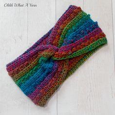 Ladies crochet rainbow twist ear warmer. Crochet ear warmer. Rainbow headband. £12.00 Rainbow Headband, Ear Warmers, Beautiful Gifts, Lady, Crochet, Gifts For Friends, Ganchillo, Crocheting, Knits