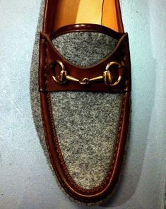 Gucci loafer- I love the color and texture combination!  Great for a sofa or a fabulous chair in an office.