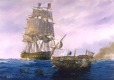 Art sea battle ships sailing sea waves sky clouds painting T_Freemen military h wallpaper   2743x1920   171708   WallpaperUP