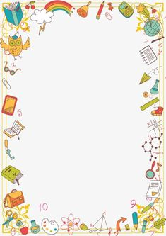 Poster Background Design, Powerpoint Background Design, Page Borders Design, Border Design, Science Lab Decorations, Boarders And Frames, School Frame, Borders For Paper, Doodle Patterns