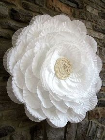 giant coffee filter flower, crafts, flowers, Full tutorial here