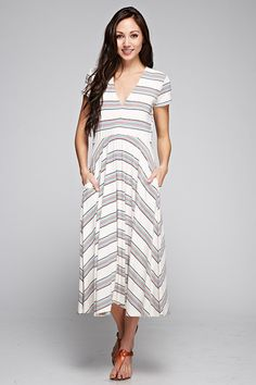 Body Electric A-Line Midi Dress