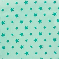 Tissu coton Stars bicolore - mer du sud/vert d'eau x 10cm