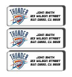 Oklahoma City Thunder NBA Basketball Team  Custom by DreamLabels, $5.00