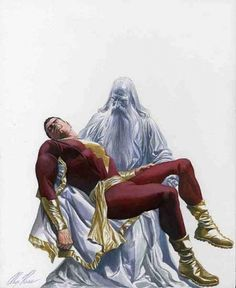 Alex Ross homaging the death of Marvel's 'Captain Marvel' with the original