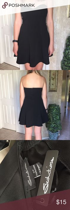 Strapless black dress Flowy black dress. Never worn. Dresses Strapless