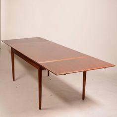 Danish Modern Draw Leaf Rosewood Dining Table Danish Modern - Danish modern dining table with leaves