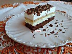 Tvarohový Rudolf (fotorecept) - Recept Hungarian Recipes, Hungarian Food, Pavlova, Creative Food, Vanilla Cake, Nutella, Tiramisu, Sweet Treats, Deserts