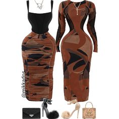 Cute Swag Outfits, Chic Outfits, Fashion Outfits, Womens Fashion, Nude Outfits, Going Out Outfits, Long Sleeve Mini Dress, Types Of Fashion Styles, Matching Outfits