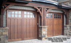 Classic & Traditional Custom Wood Carriage House Style Garage Doors - traditional - garage and shed - los angeles - Dynamic Garage Door