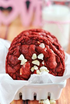 Red Velvet Macadamia Nut Cookies