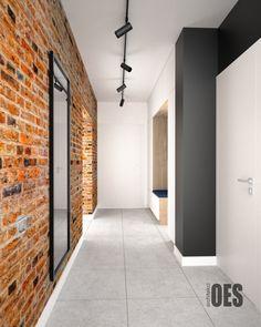 amazing home interior Kitchen Interior, Home Interior Design, Small Hall, Loft Interiors, Hallway Decorating, Home Hacks, Home Living Room, My House, Brick
