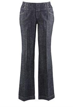 Avenue Plus Size Double Tab Trouser Jean