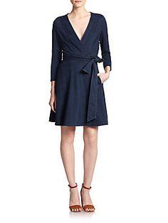 Diane von Furstenberg Christa Denim Wrap Dress
