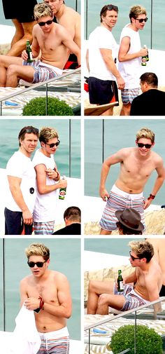 His chest hair! ❤️ Nialler, can I please join you for a dip in the pool? (Clothing is unnecessary) ;)