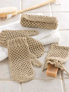 Pamper Yourself Spa Set. Or can make your very own for those who know how to knit or crochet'.