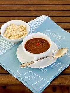 Pradobroty: Chilli con carne Chana Masala, Tea Cups, Tableware, Ethnic Recipes, Food, Dinnerware, Tablewares, Essen, Meals