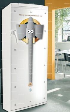 Stickers frigo : Elephant     http://www.idzif.com/idzif-deco/stickers-deco/stickers-frigo/produit-stickers-frigo-elephant-5581.html
