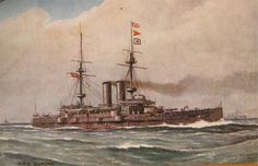 HMS Duncan, launched in 1901, was a Duncan-class battleship that saw action against German installations on the Belgian coast in World War I.  She was assigned to the 9th Cruiser Squadron on the Finisterre-Azores-Madeira Station. In late 1915, she returned to the Mediterranean, conducting operations in support of the Italian Navy and then against Greek royalists. From 1917, she spent the remainder of the war in England waters as a reserve ship and was decommissioned in 1919 and was sold in…