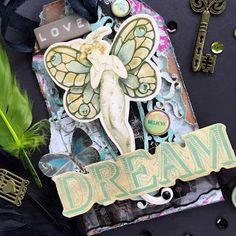 Vintage scrapbooking tag inspired by output of Alphonse Mucha . Prima Marketing Butterfly #dream #butterfly #primamarketing #mixmedia Mixedmedia #Scrapbooking #cardmaking #tag #Scrapbooingtag #secesja #love #vintage