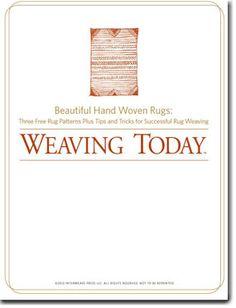 Beautiful Hand Woven Rugs  Free eBook