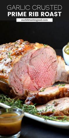 This Prime Rib Roast with a buttery soft texture on the inside and a crisp garlicky outside melts in your mouth like a luscious piece of chocolate! I show you exactly how to make this prime rib so it turns out perfectly every time! Anyone can make this EASY RECIPE! #LTGrecipes #primerib #ribeyeroast #christmasdinner #holiday #garlic #easyrecipe #recipe #dinnerrecipe