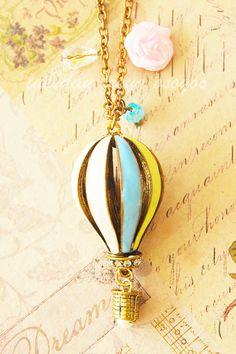 Hot air balloon necklace. $16.0