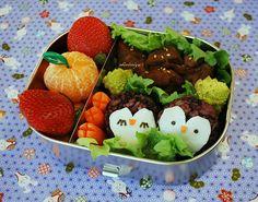 Penguin Bento 2 by sherimiya ♥, via Flickr