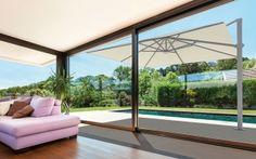 Solero Sonnenschirme  Gartenschirm / Ampelschirm  Palestro mit Bodenanker und Beleuchtung. Parasols, Decoration, 4x4, Relax, Windows, Patio, Outdoor Decor, Design, Home Decor