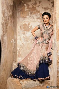Just in LOVE with this color combo!! Adnan khan has some great dresses this season <3
